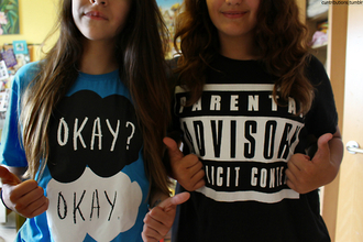 shirt john green parental advisory explicit content bring me the horizon the fault in our stars top