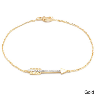 Finesque Diamond Accent Sideways Arrow Chain Bracelet | Overstock.com Shopping - The Best Deals on Diamond Bracelets