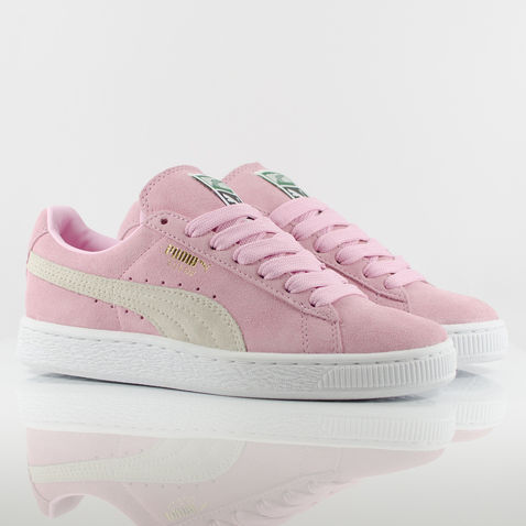 puma pink suede trainers ladies