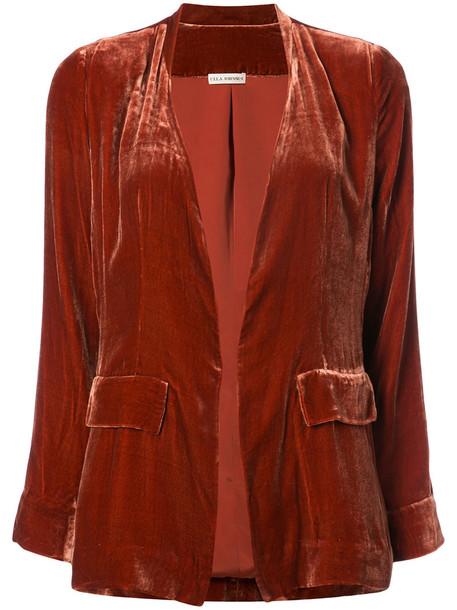 Ulla Johnson blazer women fit silk yellow orange jacket