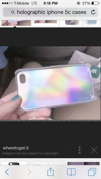 jewels holographic phone cover