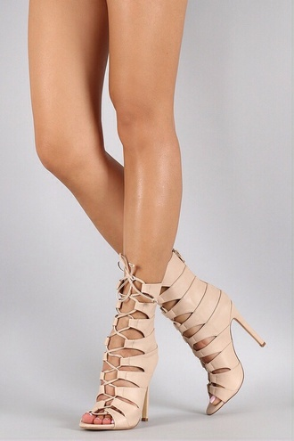shoes high heels nude