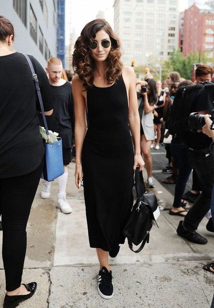 Tank Top Black Midi Dress