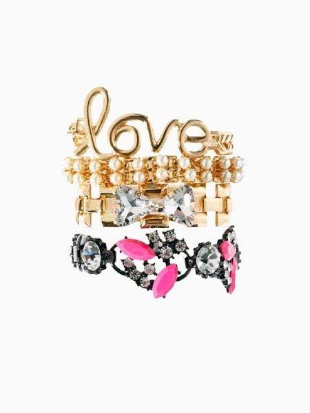 New Look Multi Four Jewel Bracelet | Choies