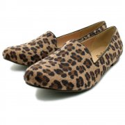 Womens Leopard Ponyskin Slipper Flat Pumps Loafers Shoes -  from Spy Love Buy UK