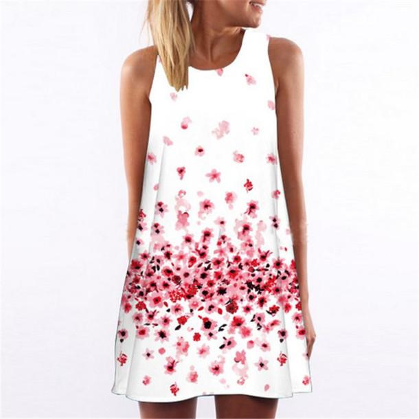 278d88ed83e5 dress white dress white floral floral dress beach beach beach dress summer  summer dress sleeveless sleeveless