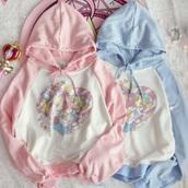 sweater,pastel,fairy kei,harjauku,kawaii fashion store,kawaii fashion shop,harajuku fashion shop,harajuku fashion store,anime,anime sweater,anime sweatshirt,anime tops,paste pink sweater,pink sweatshirt,baby pink sweatshirt,hoodie,pullover,dejavucat