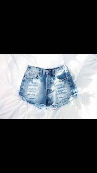 shorts high waisted short denim distressed denim shorts light washed denim
