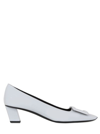 pumps leather light grey shoes