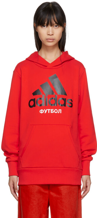 hoodie adidas originals red sweater