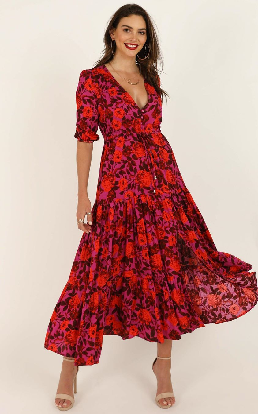 Showpo Waiting So Long dress in pink floral - 6 (XS) Dresses