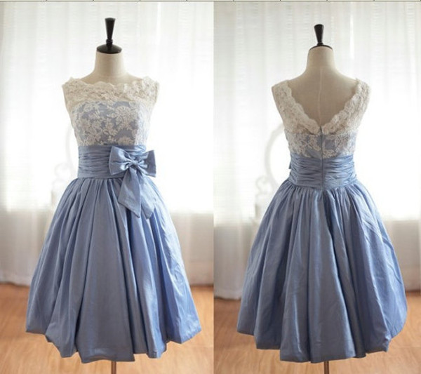 dress tea short prom dress prom dress prom gown bridesmaid lace dress lace lace prom ball gown dress blue homecoming dress cocktail dress blue dress knee length dress alice in wonderland vintage hellblau spitze