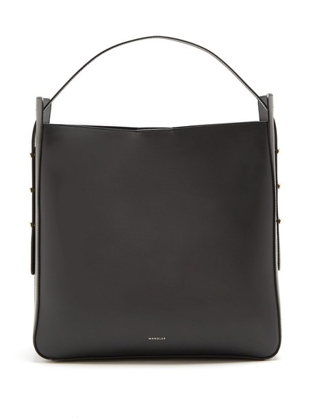 Wandler open leather black bag