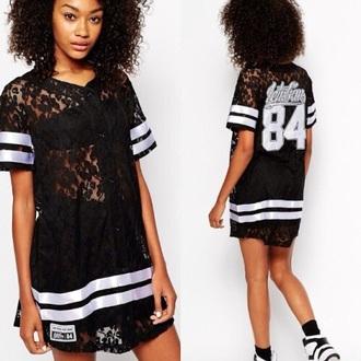 shirt lace shirt see through blouse jersey dress