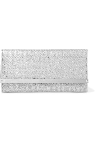 leather clutch snake clutch leather silver bag