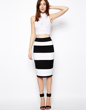 ASOS | ASOS Pencil Skirt in Stripe at ASOS