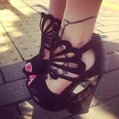 shoes,heels,black,open toes