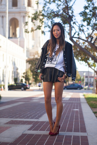 song of style jacket t-shirt shorts shoes jewels