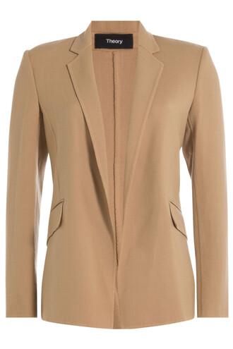blazer wool beige jacket