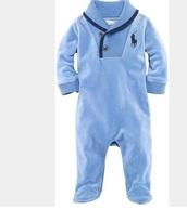jumpsuit,blue,baby,footie,ralph lauren