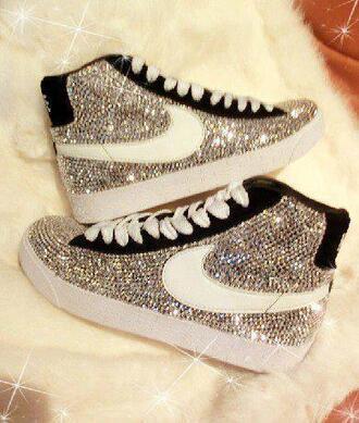 shoes nike shoes nike strass paillettes l sparkling nike shoes nike blazer strass silver glitter sneakers black bling nike snakers snakers glitter blazer nike