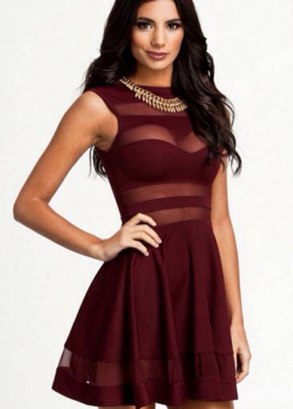 maroon/burgundy dress