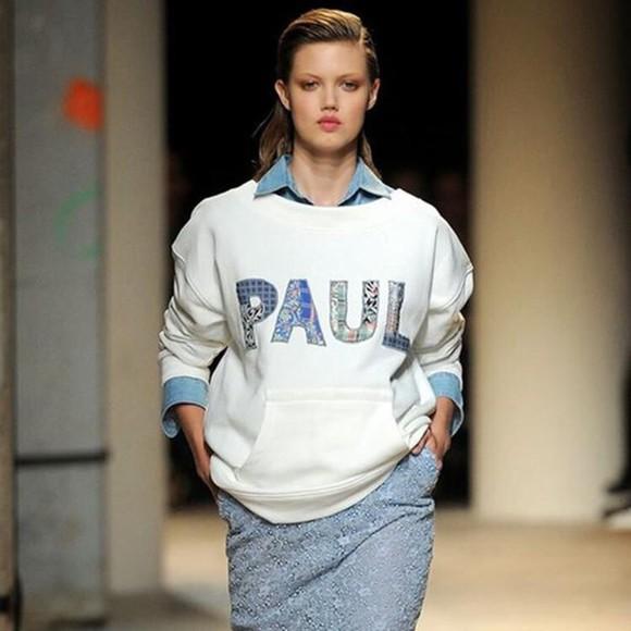 print paul sweater sweater/sweatshirt sweatshirt hoodie printed sweater Paul & Joe autum