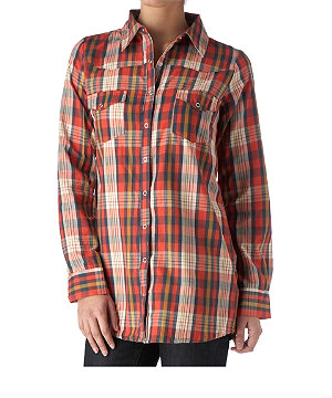 Checked boyfriend shirt