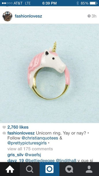 jewels unicorn ring unicorn ring