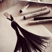 poster,fashion,pencils,desk