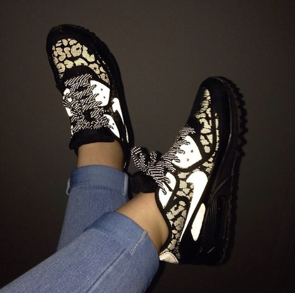 nike air max 90 leopard print black gold