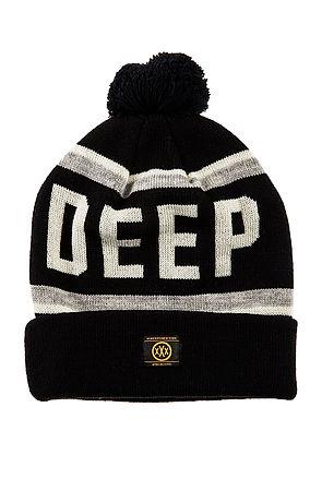 10 Deep Hat Deep Pom Pom Beanie in Black -  Karmaloop.com