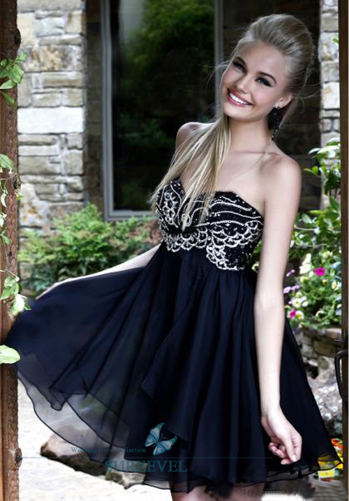 Short Embroidery Navy Evening Prom Dress Formal Party Cocktail Dresses Size 6 16   eBay