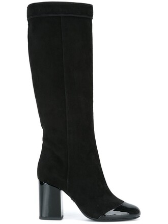 heel boot high heel high black shoes