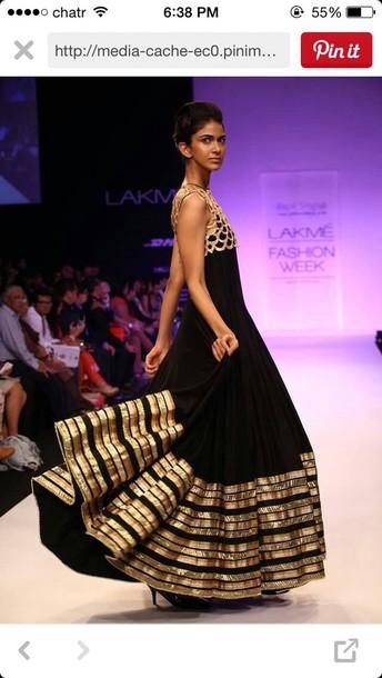 bag black and gold dress