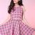 Glitters For Dinner — Made To Order - Pink Tartan Halter & Skirt Set