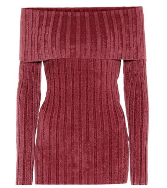Sies Marjan Daphne off-the-shoulder sweater in pink