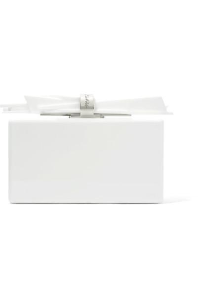 EDIE PARKER wolf clutch white bag