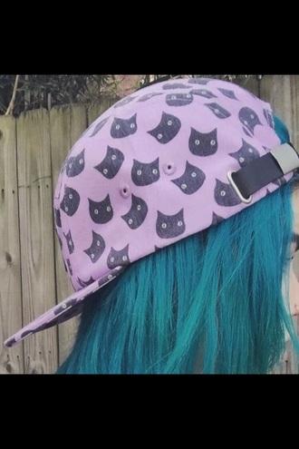 hat pink cats cat hat cute pastel