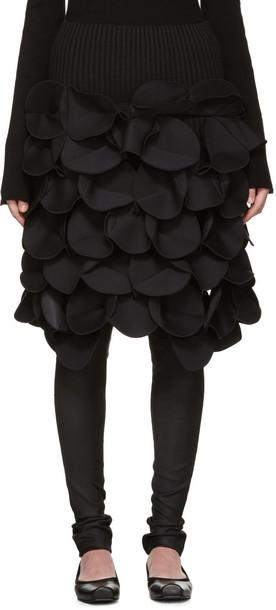 Junya Watanabe Black Scuptural Skirt