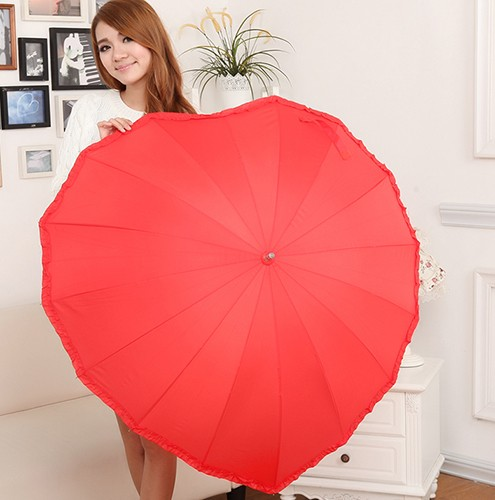 Coração vermelho umbrella melhor presente de amor para o casamento e amantes anti uv formato de coração vara guarda chuva   frete grátis em artigos para chuva de casa & jardim no aliexpress.com