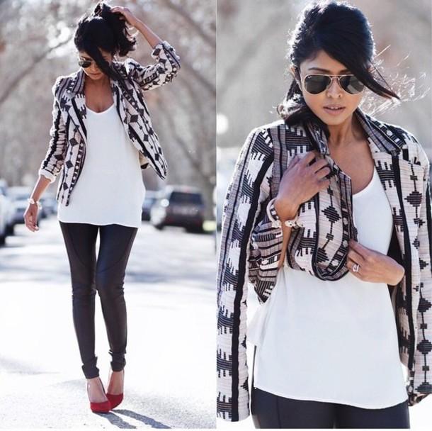 coat aztec coat
