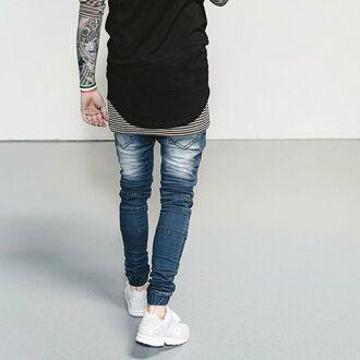 jeans phoenix biker jeans biker denim skinny pants streetwear menswear streetstyle