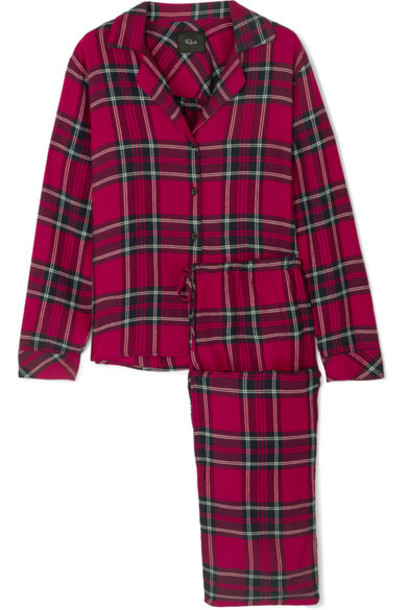 Rails - Checked Flannel Pajama Set - Red