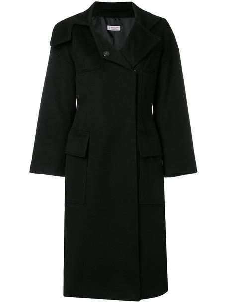 Alberto Biani coat women black wool