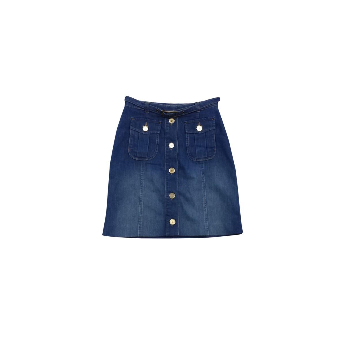 Reiss- Blue Button Up Denim Skirt Sz 2