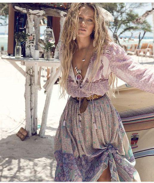 Dress Purple Dress Boho Boho Dress Gypsy Gypsy Dress Bohemian Bohemian Dress Purple