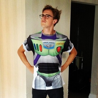 t-shirt buzz lightyear toy story tom fletcher mcfly tommcfly space ranger movie pixar disney cute