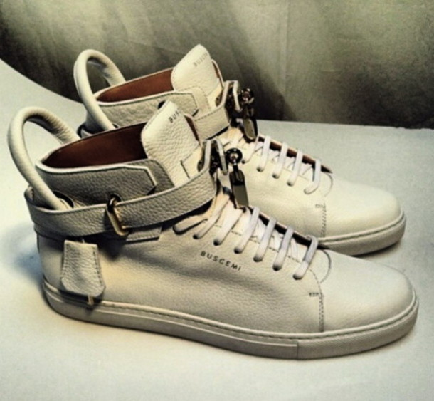 Buscemi Shoes Gold Shoes Sneakers Buscemi White