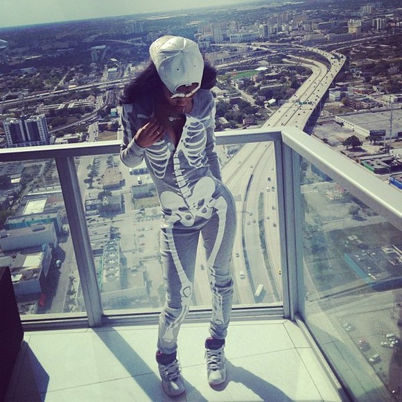 pjs underwear pajamas skeleton jumpsuit bones teyana taylor cute sexy dress boss swag swagger trill dope bodysuit